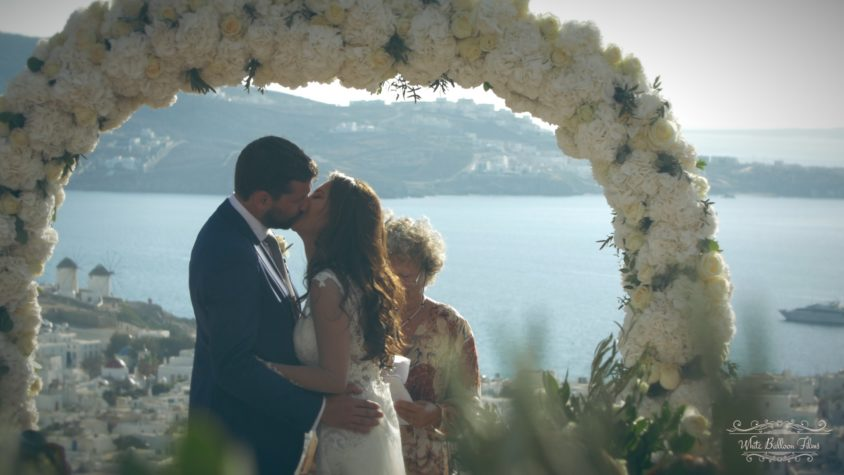 Mykonos Greece Destination Wedding White Balloon Films